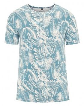 JUNGLE pánské tričko s krátkým rukávem z konopí a biobavlny - modrá wave