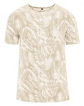 JUNGLE pánské tričko s krátkým rukávem z konopí a biobavlny - béžová gobi