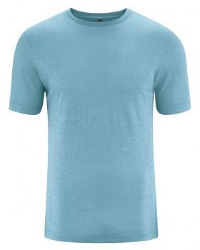 KORPER pánské tričko s krátkým rukávem z konopí a biobavlny - modrá wave