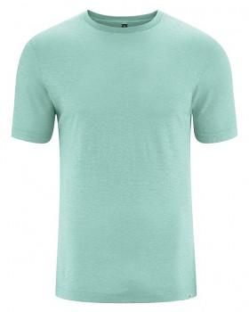 KORPER pánské tričko s krátkým rukávem z konopí a biobavlny - světle modrá sage