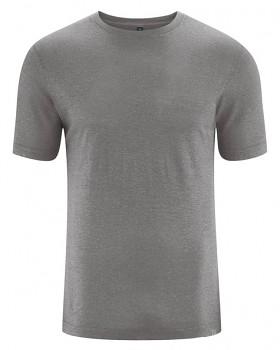 KORPER pánské tričko s krátkým rukávem z konopí a biobavlny - šedohnědá taupe