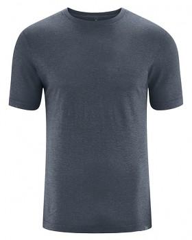 KORPER pánské tričko s krátkým rukávem z konopí a biobavlny - tmavě šedá dark