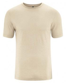 KORPER pánské tričko s krátkým rukávem z konopí a biobavlny - béžová gobi