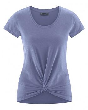 KNOT Dámské tričko s krátkými rukávy z biobavlny a konopí - fialová lavender