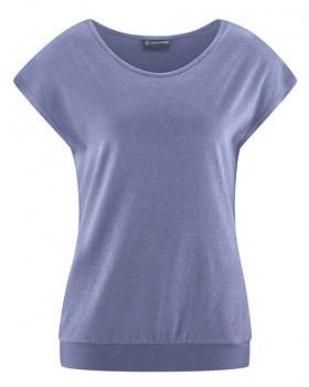 CRIMP Dámské tričko s krátkými rukávy z konopí a biobavlny - fialová lavender