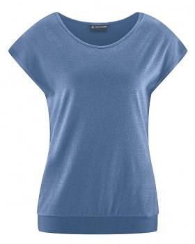 CRIMP Dámské tričko s krátkými rukávy z konopí a biobavlny - modrá blueberry