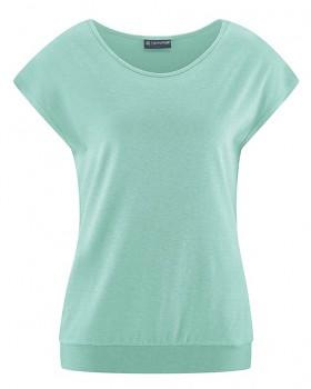 CRIMP Dámské tričko s krátkými rukávy z konopí a biobavlny - světle modrá sage