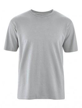 OTTFRIED pánské tričko s krátkým rukávem z biobavlny a konopí - šedá quartz