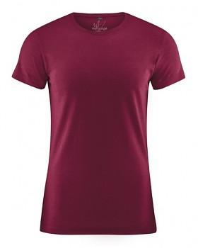 OTTO pánské tričko z biobavlny a konopí - červená rioja