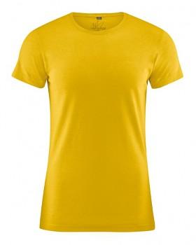 OTTO pánské tričko z biobavlny a konopí - žlutá curry