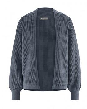 JACKE dámský pletený svetr z konopí a biobavlny - tmavě šedá dark