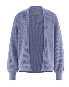 JACKE dámský pletený svetr z konopí a biobavlny - fialová lavender