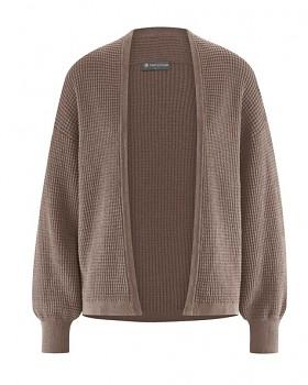 JACKE dámský pletený svetr z konopí a biobavlny - hnědá gravel
