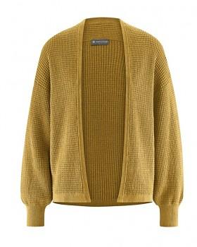 JACKE dámský pletený svetr z konopí a biobavlny - žlutá peanut