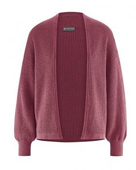 JACKE dámský pletený svetr z konopí a biobavlny - červená tinto