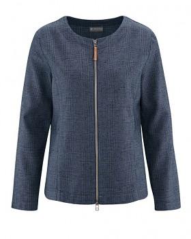 GERADE dámská bunda z konopí a biobavlny - tmavě modrá wintersky
