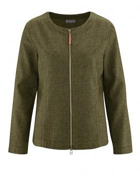 GERADE dámská bunda z konopí a biobavlny - zelená peat