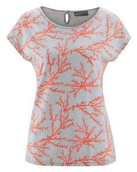 CORAL dámské tričko z konopí a biobavlny - oranžová crab