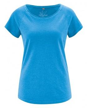 ROLT dámské raglánové tričko z konopí a biobavlny - modrá topaz