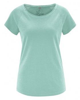 ROLT dámské raglánové tričko z konopí a biobavlny - světle modrá sage