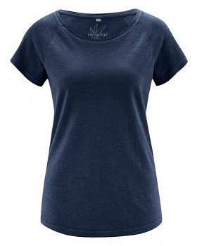 ROLT dámské raglánové tričko z konopí a biobavlny - tmavě modrá navy
