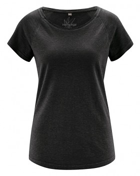 ROLT dámské raglánové tričko z konopí a biobavlny - černá