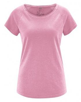 ROLT dámské raglánové tričko z konopí a biobavlny - růžová rose