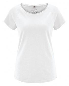 ROLT dámské raglánové tričko z konopí a biobavlny - bílá