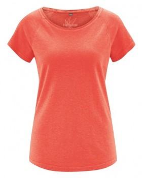 ROLT dámské raglánové tričko z konopí a biobavlny - oranžová crab