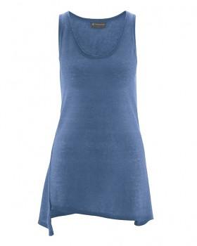 SEAM dámský top bez rukávů ze 100% konopí - modrá blueberry