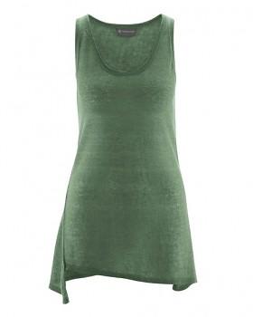 SEAM dámský top bez rukávů ze 100% konopí - zelená herb