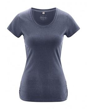 ELLA dámské tričko s krátkými rukávy z konopí a biobavlny - tmavě modrá wintersky
