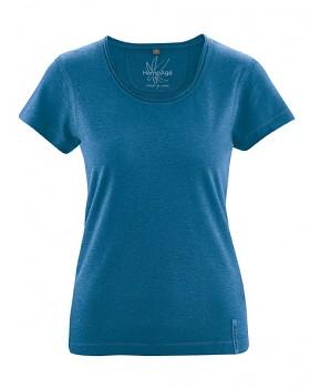 BREEZY dámské triko s krátkým rukávem z konopí a biobavlny - modrá sea