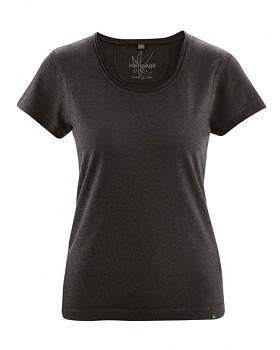 BREEZY dámské triko s krátkým rukávem z konopí a biobavlny - černá