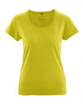 BREEZY dámské triko s krátkým rukávem z konopí a biobavlny - žlutá apple