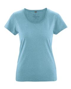 BREEZY dámské triko s krátkým rukávem z konopí a biobavlny - modrá wave