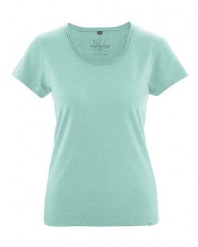 BREEZY dámské triko s krátkým rukávem z konopí a biobavlny - světle modrá sage