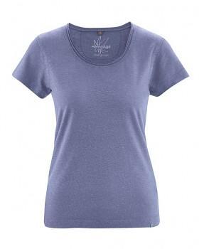 BREEZY dámské triko s krátkým rukávem z konopí a biobavlny - fialová lavender