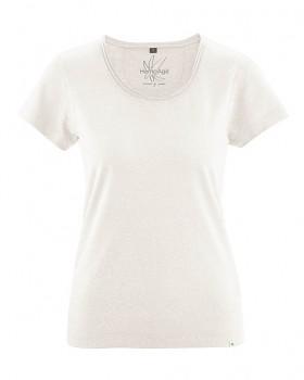 BREEZY dámské triko s krátkým rukávem z konopí a biobavlny - bílá offwhite