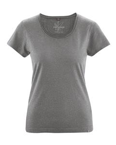 BREEZY dámské triko s krátkým rukávem z konopí a biobavlny - béžová taupe