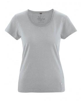BREEZY dámské triko s krátkým rukávem z konopí a biobavlny - šedá quartz