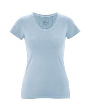SUNNY Dámské tričko z biobavlny a konopí - světle modrá clear sky