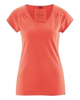 NANNI Dámské tričko z konopí a biobavlny - oranžová crab