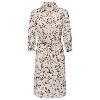 KATELINE dámské šaty z bio lnu a biobavlny - květinový potisk