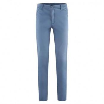 KENDRICK pánské chino kalhoty z bio bavlny - modrá moonlight