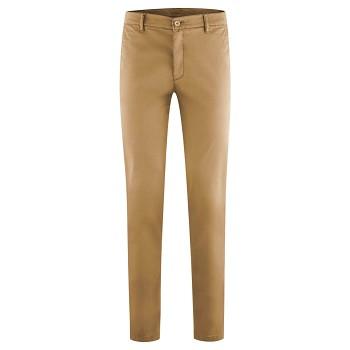 KENDRICK pánské chino kalhoty z bio bavlny - hnědá tobacco