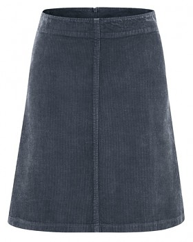 COURTNEY dámská sukně z konopí a biobavlny - tmavě šedá dark