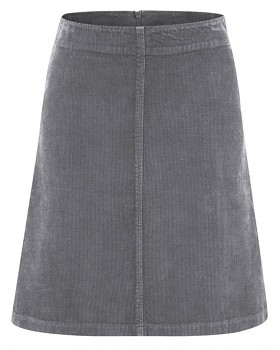 COURTNEY dámská sukně z konopí a biobavlny - šedá stone