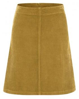 COURTNEY dámská sukně z konopí a biobavlny - žlutá peanut