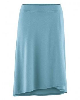 WICKY dámská asymetrická sukně z biobavlny a konopí - světle modrá wave